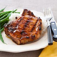 Grilled Honey-Glazed Pork Chops