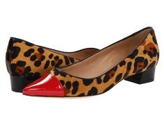 Kate Spade New York Adie Camel/Black Leopard Haircalf Print/Maraschino Red Patent - Zappos Couture
