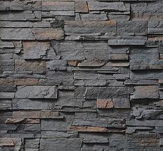 Cultured Stone Pro-Fit Ledgestone Gray Stone Veneer - The Brickyard Brick Cladding, Wall Cladding, Brick And Stone, Grey Stone, Stone Work, Boral Cultured Stone, Manufactured Stone Veneer, Old Stone Houses, Outdoor Tiles