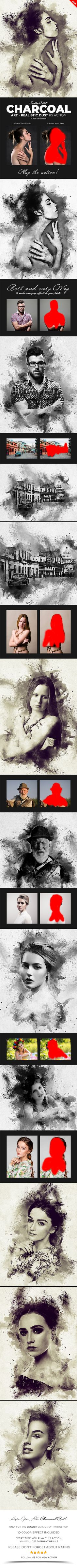 Charcoal Art - Realistic Dust Photoshop Action - Photo Effects Actions