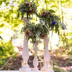 This set of candle holders features a shabby chic style glass votives and three varied heights #wedding #weddingday #couple #love #light #candles #color #green #photography #instafashion #instalove #instagood #beautiful #thankyou #decor #decoration #designer #design #cool #nice #beauty #fashion #romantic #ilove #iloveyou #loveit #wellness #gift #party #garden