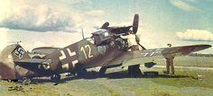 """Messerschmitt Bf 109 G-2 """"Yellow 12"""" 9./JG 54."""