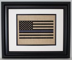 """POLICE Gift - Thin Blue Line Flag - State Police, Law Enforcement, Deputy, State Trooper - Home Decor on Burlap. PRINT ONLY - frame is not included. We make these easy to frame. They are made to fit in a frame that is matted to 8""""x10"""" unless other size is requested. POLICE Thin Blue Line Flag on Burlap Made by a Police Officer for Officers. Thank You for your service!! **Do you need your order QUICKLY? Upgrade to Priority Mail. Priority Mail usually arrives in 1 to 3 days (Orders ship in…"""