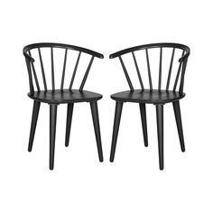 They're simple, they're refined—they're always in style. Vertical spokes join a wooden walnut seat and curved back, while angled legs add a contrasting finish. Bring some clean lines to a rustic wood t...  Find the Hayden Spring Dining Chair - Set of 2, as seen in the Rustic Spring Table Collection at http://dotandbo.com/collections/rustic-spring-table?utm_source=pinterest&utm_medium=organic&db_sku=112456