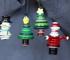 Ornaments made out of buttons!!!!