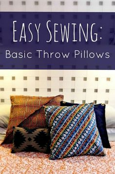 SUPER Easy Throw Pillows