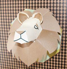 Majestic lion plaque from the Cricut subscription