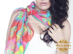 Scarf knot around neck - YogyRama Butterfly Jungle silk scarf YOGYRAMA summerscarf photoshoot : Tie YOGYRAMA Butterfly Jungle Silk scarf. Bring it to the side and look stylish. Behind the scenes of the scarves photo shoot. Shot by SabinaYunusova YOGYRAMA are hand drawn designs using ancient art from the foot of Himalayas.  YOGYRAMA scarves are worn by actress Joanna Lumley,Oscar nominated Juliette Lewis,Supermodel Lindsey Wixson, actress Kate Hallam. www.YogyRama.com…