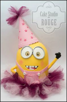 Minion for girl <3 - by Ceca79 @ CakesDecor.com - cake decorating website