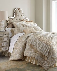 """Sophia"" Bed Linens by Austin Horn Classics at Horchow."
