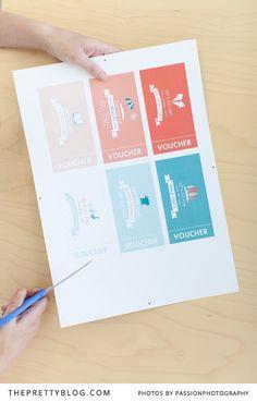 Print & cut out these free activity vouchers  | Design: @Seven Swans Photography: @Amanda Drost