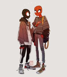 Spider-Man into the spider verse by – Marvel Comics Spiderman Fanart, Spiderman Kunst, Cartoon Cartoon, Cartoon Characters, Character Drawing, Comic Character, Illustrator, Bd Comics, Spider Verse