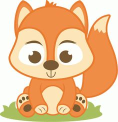 Baby Fox Decal by SponselCrafts on Etsy Scrapbook Stickers, Baby Scrapbook, Cute Valentines Card, Baby Squirrel, Silhouette Online Store, Cute Clipart, Silhouette Design, Cute Images, Animal Party