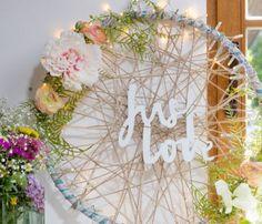 Hula hoop as a brilliant idea for the wedding decoration - Pratical Information Diy Arts And Crafts, Diy Crafts, Spice Chart, Wedding Crafts, Diy Party Decorations, Craft Projects, Craft Ideas, Inspiration, Farmhouse