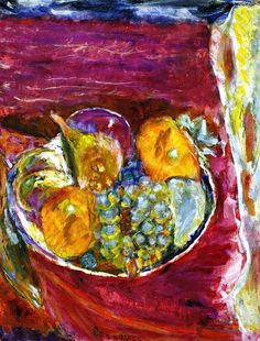 "bofransson: "" Grapes Pierre Bonnard - circa 1942-1945 """
