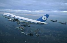 Sabena Belgian World Airways Boeing 747-100B retirement flight escorted by Belgian Air Force General Dynamics F-16A/B Fighting Falcons