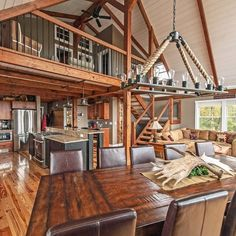 Moose Ridge Lodge is a small YBH with maximum space utility. Metal Building Homes, Building A Shed, Metal Homes, Building Plans, Cabin Homes, Log Homes, Tiny Homes, Shed Homes, Yankee Barn Homes