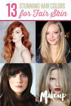Hair Colors for Fair Skin