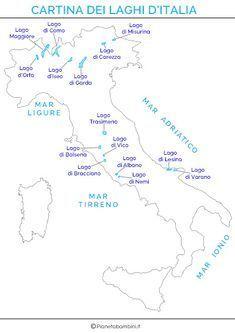 Cartina Dei Fiumi Del Nord Italia.Pin Su Geografia