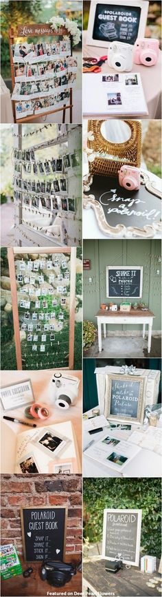 unique wedding ideas - Polaroid wedding guestbook ideas / http://www.deerpearlflowers.com/creative-polaroid-wedding-ideas/
