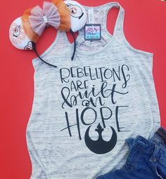 Rebellions are built on hope Star Wars shirt - Ideas of Star Wars Outfits - Rebellions are built on hope Star Wars shirt Disney 2017, Disney Diy, Disney Crafts, Disney Trips, Disney Love, Disney Cruise, Walt Disney, Disney Magic, Disney Shirts For Family