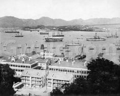 c.1890 View of Naval Yard, harbour & TST from Scandal Point | Gwulo: Old Hong Kong
