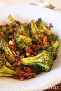 3 1/2 Stars --Side Dish: Savory Roasted Broccoli with Almonds. Easy, Simple, and Tasty. Hubby loved it. It was a bit on the crunch-side for my taste in broccoli.