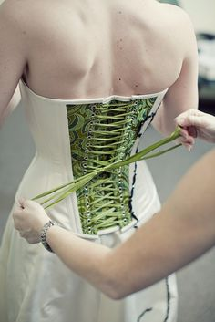 green corset back