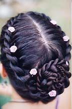 twist braid done up in classic style; instructions provided