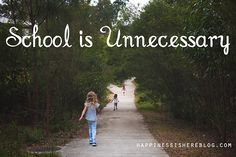 I have many criticisms of school. Too many to explain to curious people asking the inevitable question about why we chose this path without overwhelming them. Mainly it comes down to this, school would be an unnecessary addition to our lives. Possibly detrimental, I don't know, I'm not going to try and find out, but … … Continue reading →