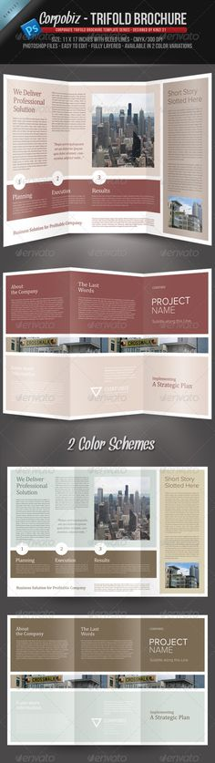 Corpobiz Trifold Brochure - PSD Template. More info on how to get the template can be found here: http://graphicriver.net/item/corpobiz-trifold-brochure-psd-template/243518?r=kinzi21
