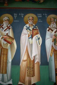Saint Anthony Church, Byzantine Icons, Nashville Tennessee, Athens Greece, Fresco, Saints, Creative, Fresh