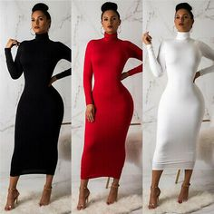Details about Hot Women Bandage Bodycon Dress Evening Cocktail Party sleeveless long Dress – Wp Long Tight Dresses, Modest Dresses, Sexy Dresses, Evening Dresses, Casual Dresses, Tight Long Sleeve Dress, Dresses Uk, Dress Long, Bridal Dresses