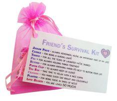 Special Friend Gift- Little Bag of Friendship - Survival Kit thanks ~ Birthday
