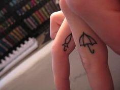 Umbrella Tattoo On Finger