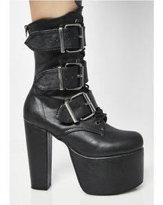18722b17816 Elvira Buckle Boots Platform Ankle Boots