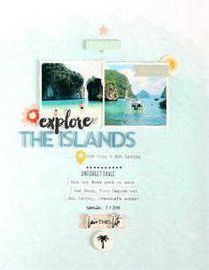Explore The Islands | Scrapbooking Layout | Felicity Jane Summer Kit