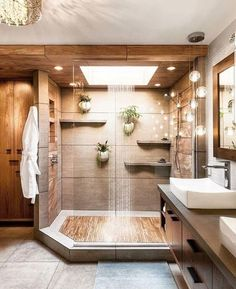 Teak floors in a walk in shower 2019 Dream shower! Teak floors in a walk in shower The post Dream shower! Teak floors in a walk in shower 2019 appeared first on Shower Diy. House Design, House Bathroom, Home, Dream Bathrooms, Bathroom Inspiration Modern, House Rooms, House Interior, Home Interior Design, Bathrooms Remodel