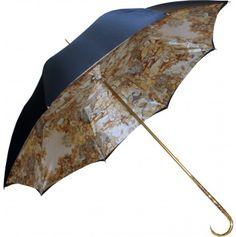 Pasotti Navy Double Canopy Greco-Roman Umbrella