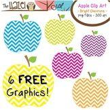 Pommes GRATUIT Set: Clip Art Graphics pour les enseignants {vives Chevrons}
