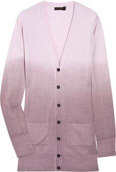 Burberry Prorsum Dégradé Wool-blend Cardigan in Purple (pink)