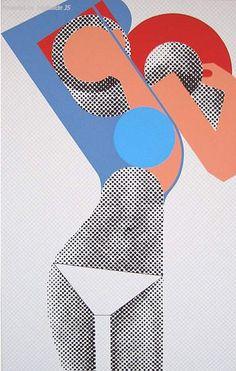 Gerald Laing (1936-2011), 2008, KM (Kate Moss), screen print. (British pop artist) #PopArt