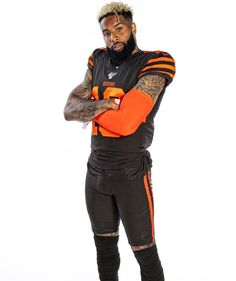 Warrior Tattoos, Odell Beckham Jr, Football Pictures, Cleveland Browns, Football Players, Nfl, Bomber Jacket, Celebs, Athletic