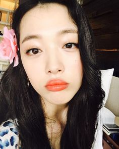 See the latest selfies from Choi Sulli - SNSD Sulli Choi, Choi Jin, My Girl, Cool Girl, Brown Eyed Girls, Victoria, Pale Skin, Kpop Girls, Asian Beauty