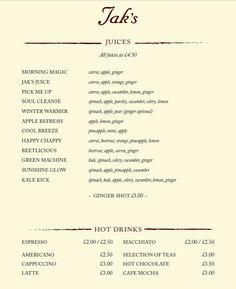 Cocktail And Wine Sample Menu  Sample Menu JakS Zefi