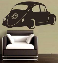 VW Beetle Car Wall Art Sticker Vinyl Decal Various Sizes Car Wall Art, Wall Art Decor, Sticker Vinyl, Wall Decals, African Market, Beetle Car, Smooth Walls, Vw Beetles, Vinyl Designs