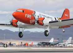 """Forest service Super DC-3 - A turboprop powered version of theclassic 1930s DC-3 airliner 