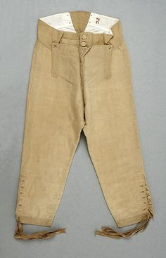 Breeches 1770, American or European, Made of silk