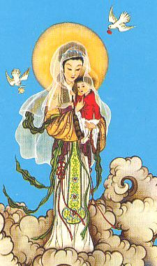 Fourth Glorious Mystery - The Assumption of Mary into Heaven  Chinese Catholic Iconography