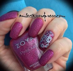 Zoya pixie dust with Bundle Monster accent nail